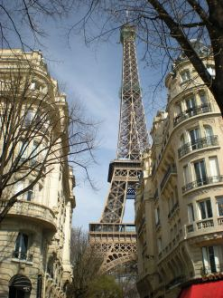 Paris, France on a wonderful spring-March afternoon. Viva la France!