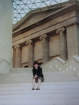 Me on the steps of the British Museum