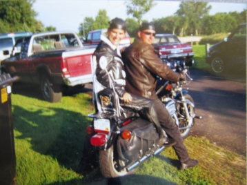 Sturgis, here I come. The leather chaps were a birthday gift...awww